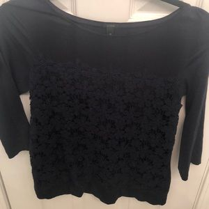 J. Crew Blouse With Lace Detailing Size XS
